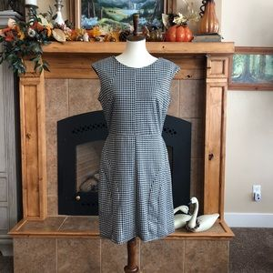 MERONA fit and flare black and white dress!